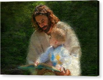 Children Stories Canvas Print - Bible Stories by Greg Olsen
