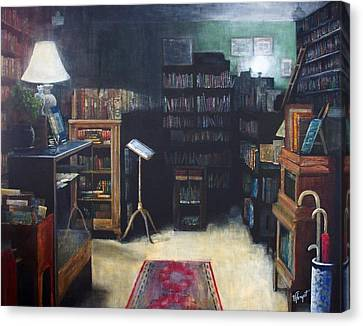 Bibliopoly Canvas Print by Victoria Heryet