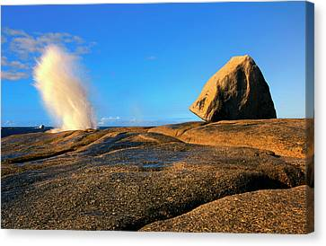 Blowhole Canvas Print - Bicheno Blowhole by Mike  Dawson