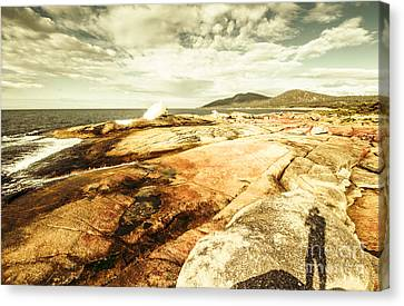 Bicheno Blowhole Tourist Canvas Print by Jorgo Photography - Wall Art Gallery