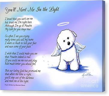 Bichon Frise Angel With Poem Canvas Print