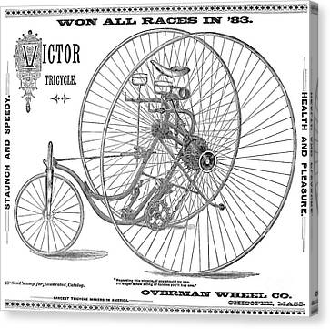 Bicycle, 1884 Canvas Print by Granger