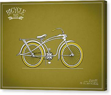 Bicycle 1937 Canvas Print by Mark Rogan