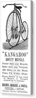 Bicycle Ad, 1885 Canvas Print by Granger