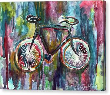 Bicycle Blues Canvas Print