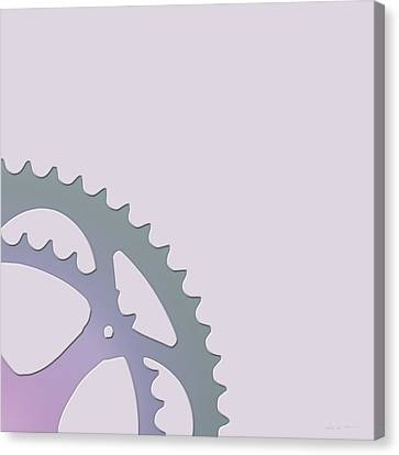 Bicycle Chain Ring On Lavender Water - 2 Of 4 Canvas Print by Serge Averbukh