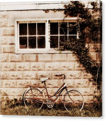 Bicycle Canvas Print by Julie Hamilton
