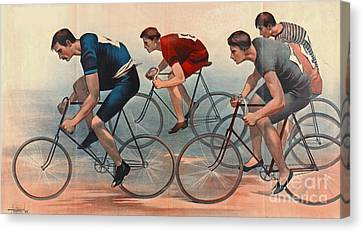 Canvas Print featuring the photograph Bicycle Lithos Ad 1896nt by Padre Art