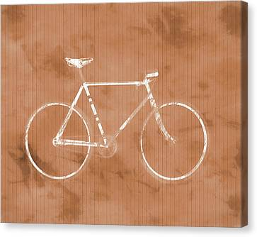 Bicycle On Tile Canvas Print by Dan Sproul