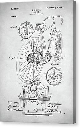 Bicycle Patent Canvas Print by Taylan Apukovska