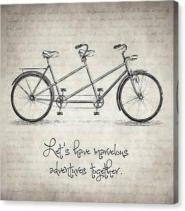 Bicycle Quote Canvas Print by Taylan Apukovska