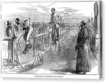 Bicycle Race, 1875 Canvas Print by Granger