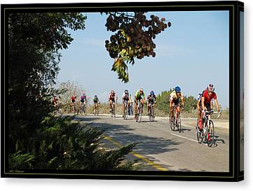 Bicycle Race Canvas Print by Arik Baltinester