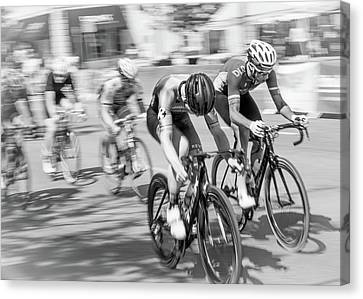 Bicycle Race Canvas Print - Criterium by Jim Hughes