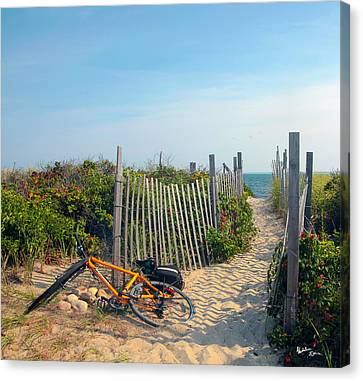 Canvas Print featuring the photograph Bicycle Rest by Madeline Ellis