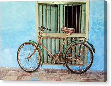 Bicycle, Trinidad Canvas Print by Brenda Tharp