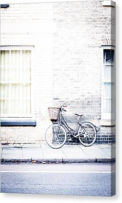 Bicycle With Basket Canvas Print
