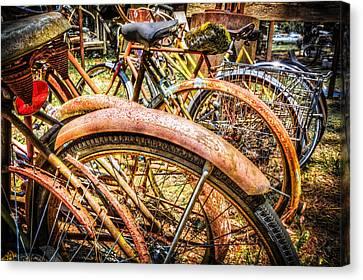Bicycles Canvas Print by Debra and Dave Vanderlaan