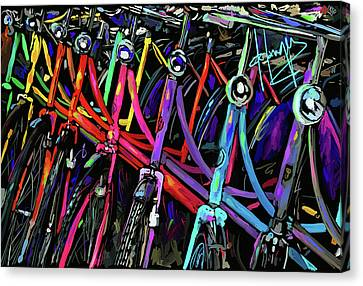 Bicycles In Amsterdam Canvas Print