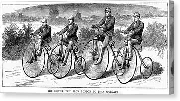 Bicycling, 1873 Canvas Print by Granger
