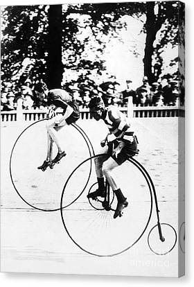 Bicycling Race, C1890 Canvas Print by Granger