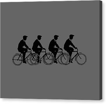 Bicycling T Shirt Design Canvas Print by Bellesouth Studio