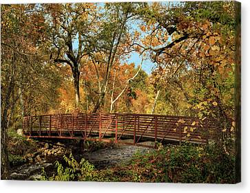 Canvas Print featuring the photograph Bidwell Park Bridge In Chico by James Eddy