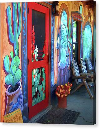 Screen Doors Canvas Print - Bienvenidos by Nikolyn McDonald