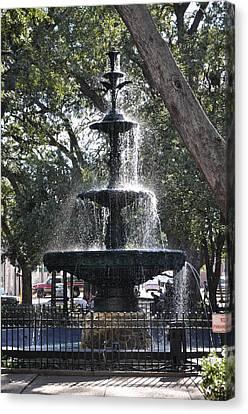 Bienville Square Fountain Canvas Print by David Dittmann