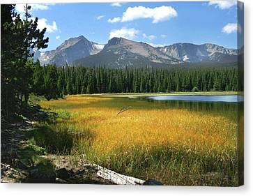 Canvas Print featuring the photograph Autumn At Bierstadt Lake by David Chandler