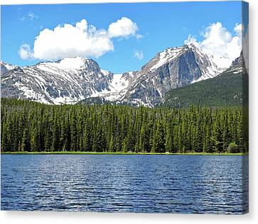 Bierstadt Lake Canvas Print by Connor Beekman