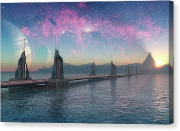Thor Canvas Print - Bifrost Bridge by Cynthia Decker