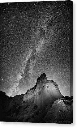 Canvas Print featuring the photograph Big And Bright In Black And White by Stephen Stookey