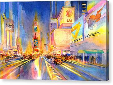 Big Apple Evening, No. 2 Canvas Print by Virgil Carter