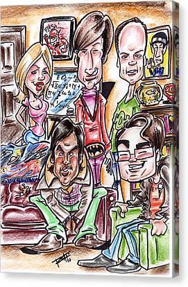 Big Bang Theory Canvas Print by Big Mike Roate