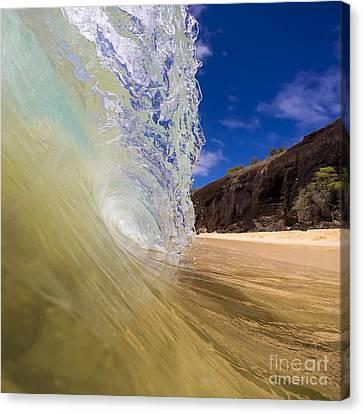 Canvas Print - Big Beach Maui Shore Break Wave by Dustin K Ryan