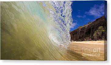 Big Beach Maui Shore Break Wave Wide  Canvas Print by Dustin K Ryan