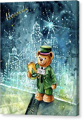 Big Bear Harrods Canvas Print by Miki De Goodaboom