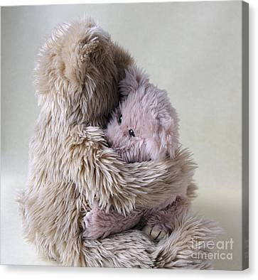 Big Bear Holds Little Bear Canvas Print by Ruby Hummersmith
