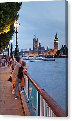 Big Ben And Houses Of Parliament Viewed Canvas Print