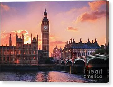 Big Ben And Parliament Sunset Canvas Print