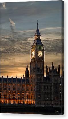 Big Ben At Dusk Canvas Print by Martin Howard