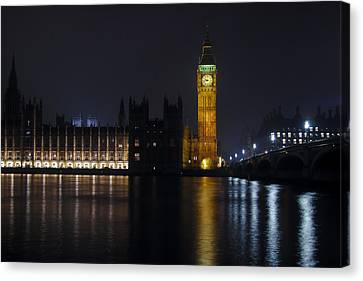 Big Ben At Night Canvas Print by Andrew Soundarajan