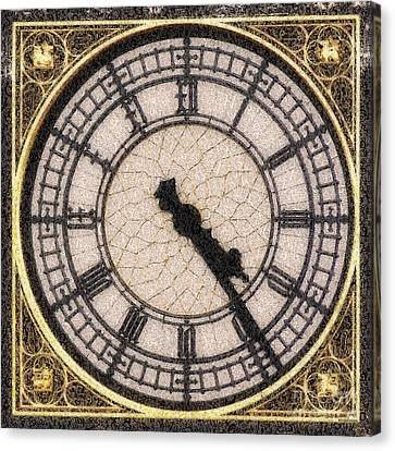 Big Ben Clock Color By Numbers 20161115 Canvas Print by Wingsdomain Art and Photography