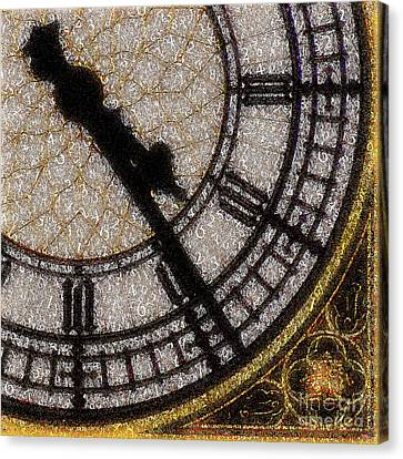 Canvas Print featuring the photograph Big Ben Clock Color By Numbers 20161115v2 by Wingsdomain Art and Photography