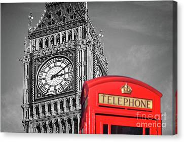 Canvas Print featuring the photograph Big Ben by Delphimages Photo Creations