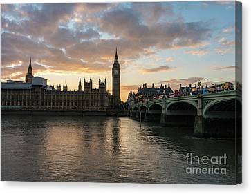 Big Ben London Sunset Canvas Print by Mike Reid