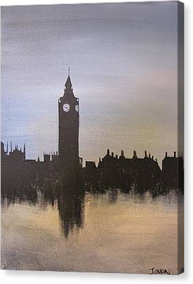 Canvas Print featuring the painting Big Ben Of London by Gary Smith