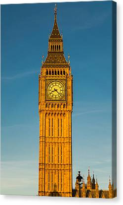 Big Ben Tower Golden Hour London Canvas Print