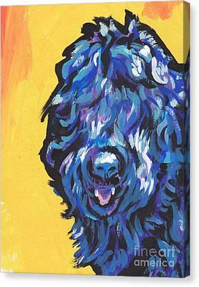 Black Russian Canvas Print - Big Blackie by Lea S
